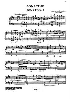 Vierunddreissig Sonatinen für Klavier: Vollsammlung by Georg Benda