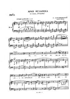 Mermaid: Aria of Miller, for Voices and Piano by Alexander Sergeyevich Dargomyschski