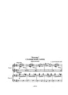 Mermaid: Slavonic Dance, for Two Pianos Four Hands by Alexander Sergeyevich Dargomyschski