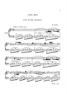 Casta diva: Für Klavier by Vincenzo Bellini