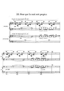 Six épigraphes antiques, L.131: No.3 Pour que la nuit soit propice by Claude Debussy