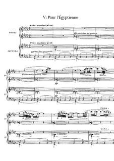 Six épigraphes antiques, L.131: No.5 Pour l'égyptienne by Claude Debussy