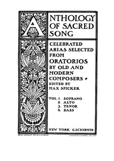Anthology of Sacred Song. Selected Arias from Oratorios for Bass and Piano (Volume IV): Anthology of Sacred Song. Selected Arias from Oratorios for Bass and Piano (Volume IV) by August Klughardt, Ferdinand von Hiller, Bernhard Molique, Alexander Mackenzie, Théodore Dubois, Julius Benedict, Joseph Barnby, Henri Maréchal