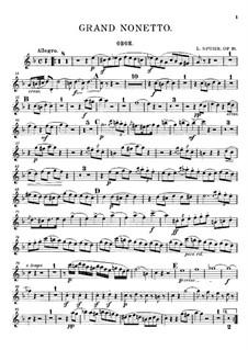 Grosses Nonett, Op.31: Oboenstimme by Louis Spohr