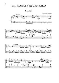 Acht Sonaten für Cembalo, Op.1: Vollsammlung by Domenico Alberti