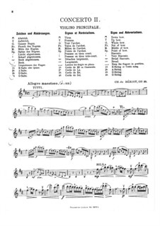 Violinkonzert Nr.2, Op.32: Solostimme by Charles-Auguste de Beriot