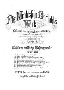 Die Loreley, Op.98: Vollpartitur by Felix Mendelssohn-Bartholdy