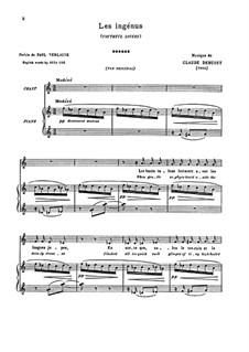 Fêtes galantes: Set II, No.1 Les ingénus (Youthful Lovers), L.104 by Claude Debussy