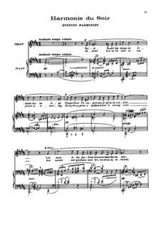 Fünf Gedichte von Baudelaire, L.64: No.2 Harmonie du soir by Claude Debussy