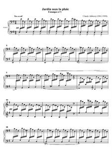 Estampes, L.100: Nr.3 Garten im Regen by Claude Debussy