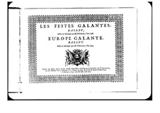 L'Europe galante: Second Dessus part by André Campra