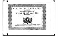 L'Europe galante: Violinstimme by André Campra