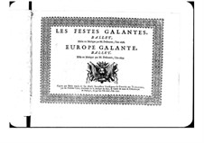 L'Europe galante: Basso Continuo Stimme by André Campra