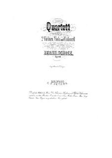 Streichquartett Nr.1 in G-Dur, Op.46: Stimmen by Bernhard Scholz