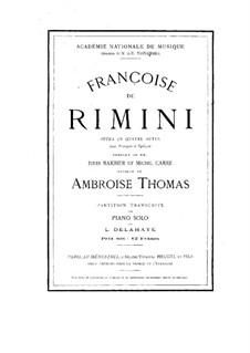 Françoise de Rimini: Françoise de Rimini by Ambroise Thomas
