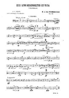 Ego sum resurrectio et vita. Paraphrase für Orgel und Orchester, Op.34: Kontrabass-Stimme by Fernand de La Tombelle