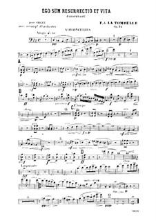 Ego sum resurrectio et vita. Paraphrase für Orgel und Orchester, Op.34: Cellostimme by Fernand de La Tombelle