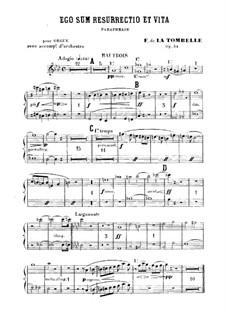 Ego sum resurrectio et vita. Paraphrase für Orgel und Orchester, Op.34: Oboenstimme by Fernand de La Tombelle