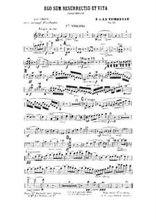 Ego sum resurrectio et vita. Paraphrase für Orgel und Orchester, Op.34: Violinstimme I by Fernand de La Tombelle