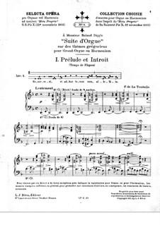 Suite über gregorianische Themen für Orgel (oder Harmonium): Suite über gregorianische Themen für Orgel (oder Harmonium) by Fernand de La Tombelle