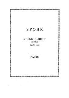 Drei Streichquartette, Op.74: Quartett Nr.2 by Louis Spohr