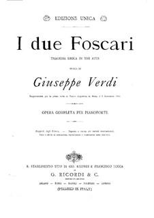 Die beiden Foscari: Für Klavier by Giuseppe Verdi