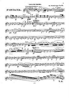 Souvenir de Russie. Fantasie, Op.21: Souvenir de Russie. Fantasie by Henri Vieuxtemps