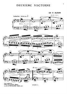 Zwei Nocturnes für Klavier, Op.57: Vollsammlung by Charles-Valentin Alkan