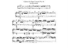 Konzert für Klavier und Orchester Nr.14 in Es-Dur, K.449: Kadenz (Teil I) by Wolfgang Amadeus Mozart