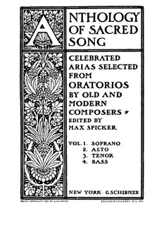 Anthology of Sacred Song. Selected Arias from Oratorios for Alto and Piano (Volume II): Anthology of Sacred Song. Selected Arias from Oratorios for Alto and Piano (Volume II) by Friedrich Kiel, Arthur Sullivan, Julius Benedict, Henri Maréchal, Georg Vierling, Frederic Hymen Cowen, Carl Martin Reinthaler, Michael Costa