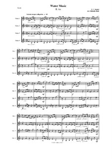 Suite Nr.1 in F-Dur, HWV 348: Arie, für vier Gitarren by Georg Friedrich Händel