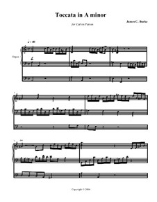 Toccata in A Minor: Toccata in A Minor by James Burke