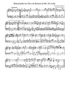 Suite in G-Dur: Ritournelle des fées de 'Roland' de Lully by Jean-Henri d'Anglebert