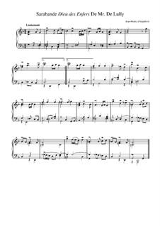 Suite in g-Moll: Sarabande 'Dieu des enfers' de Lully by Jean-Henri d'Anglebert