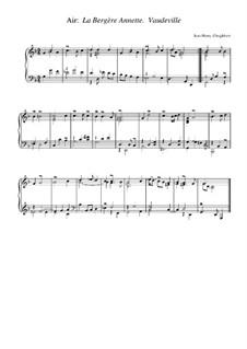 Suite in g-Moll: Air 'La Bergere Annette'. Vaudeville by Jean-Henri d'Anglebert
