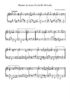 Suite in g-Moll: Menuet 'La jeune Iris' de Lully by Jean-Henri d'Anglebert