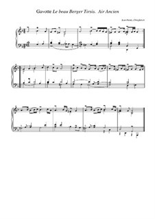 Suite in g-Moll: Gavotte 'Le beau berger Tirsis'. Air ancien by Jean-Henri d'Anglebert