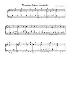 Suite in g-Moll: Menuet de Poitou. Voudeville by Jean-Henri d'Anglebert