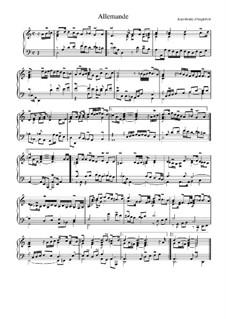 Suite in d-Moll: Allemande by Jean-Henri d'Anglebert