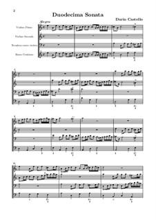 Sonate für zwei Violinen, Posaune und Basso Continuo Nr.12: Sonate für zwei Violinen, Posaune und Basso Continuo Nr.12 by Dario Castello