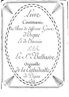 Ausgewählte Stücke für Orgel (oder Cembalo): Ausgewählte Stücke für Orgel (oder Cembalo) by Claude-Bénigne Balbastre