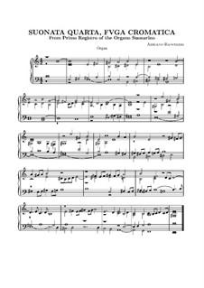 Sechs Sonaten für Orgel: Sonate Nr.4 by Adriano Banchieri