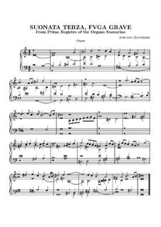 Sechs Sonaten für Orgel: Sonate Nr.3 by Adriano Banchieri