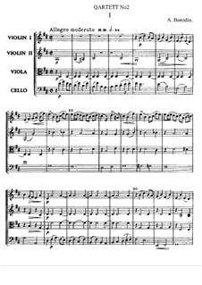 Streichquartett Nr.2 In D-Dur: Partitur by Alexander Porfiryevich Borodin