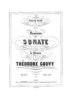 Sonate für Klavier Nr.2 in A-Dur, Op.29: Sonate für Klavier Nr.2 in A-Dur by Louis Théodore Gouvy