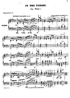 Dans les bois (Im Walde), Op.86: Klavierstück Nr.3 by Stephen Heller