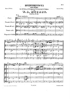 Divertissement in C-Dur, K.187: Divertissement in C-Dur by Wolfgang Amadeus Mozart