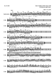 Range of fingerings for cromatical scale, Op.1: Range of fingerings for cromatical scale by Ilya Kogan