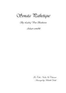 Teil II: Bearbeitung für Klarinette, Violine und Cello by Ludwig van Beethoven