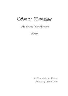 Teil III: Bearbeitung für Klarinette, Violine und Cello by Ludwig van Beethoven